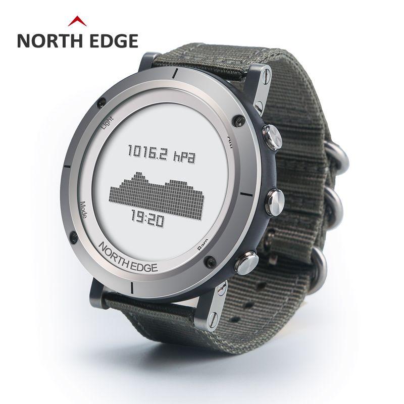 Mann im freien sport digitalen smart watch wasserdicht 50 mt angeln Höhenmesser Barometer Thermometer Kompass Höhe stunden NORDEN RAND
