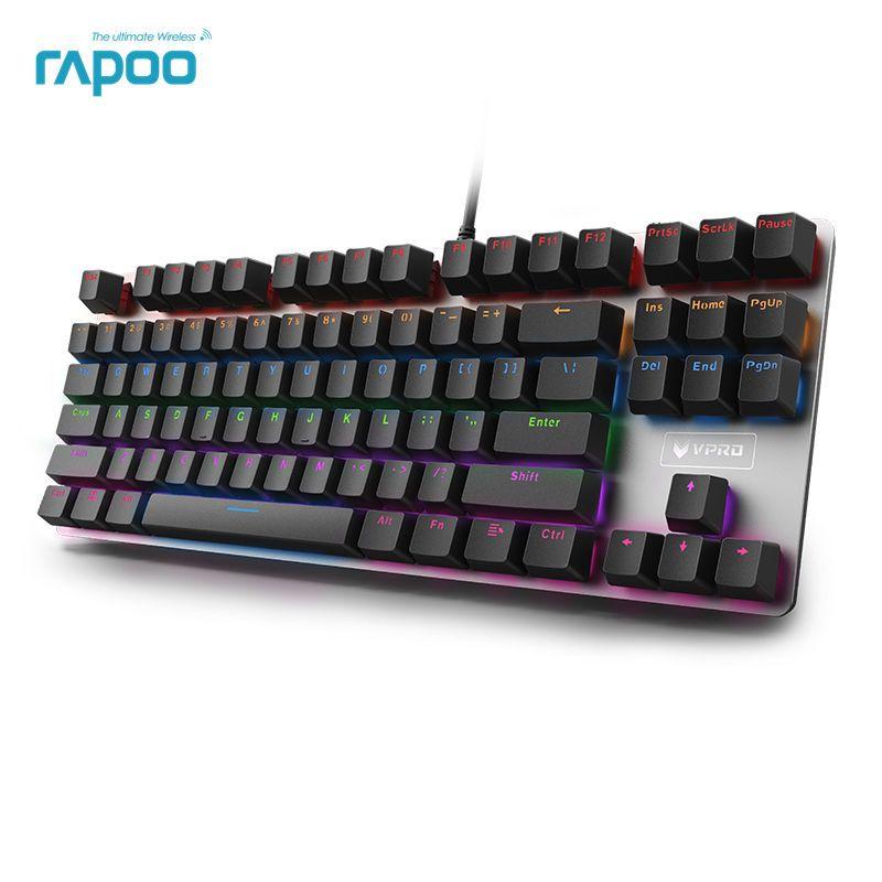 Rapoo V500 Version en alliage clavier de jeu mécanique Teclado avec alimentation USB pour ordinateur de jeu ordinateur de bureau ordinateur portable noir/marron/bleu