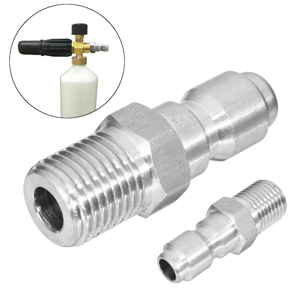 1 stück Splitter 1/4 Loch Schnellwechsler für Universal Druck Blase Topf Washer Adapter Mayitr Durable Schnellverschluss Stecker 16*40mm