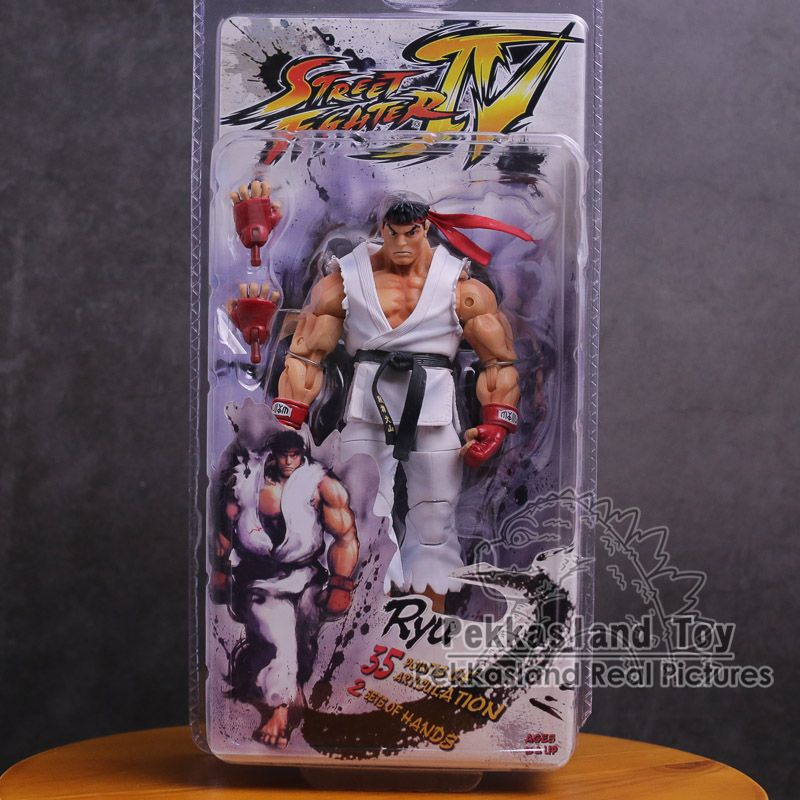 NECA Street Fighter Ken Ryu Guile PVC Action Figure Collectible Model Toy 18cm