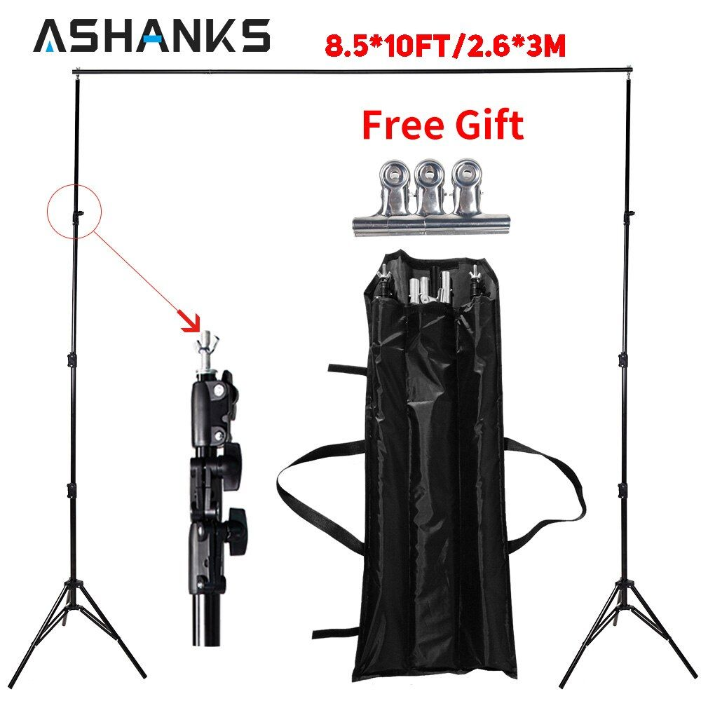 ASHANKS Photography Studio Backdrops Frame Background Support System 2.6M X 3M Stands Camera & Photo Accessories + Carry Bag