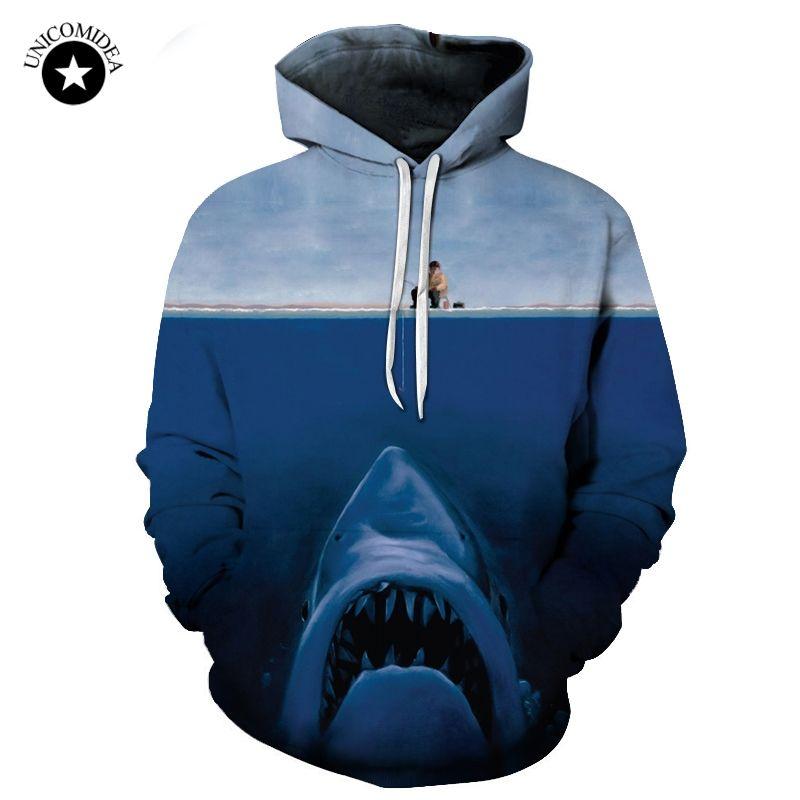 2018 Men's <font><b>Shark</b></font> 3d Print Hoodies Hooded Sweatshirts Funny Angler & <font><b>Shark</b></font> Long Sleeve Pullovers Plus Size 6XL Tops Dropshipping
