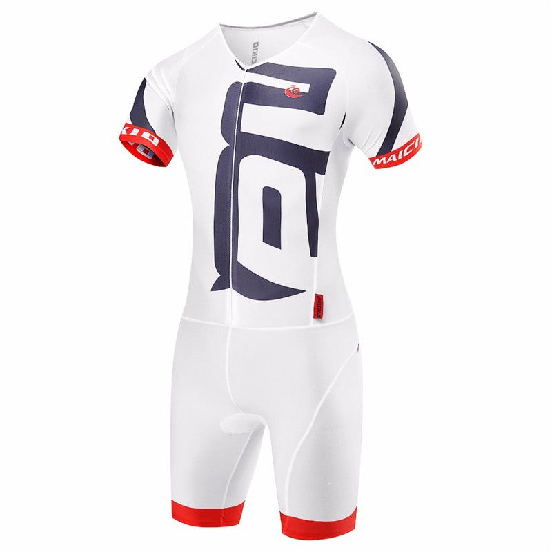Malciklo Triathlon Skinsuit 2018 White Pro Cycling Sets Ropa Ciclismo Maillot Cycling Clothing Mens Bike Jersey Wetsuit Suits