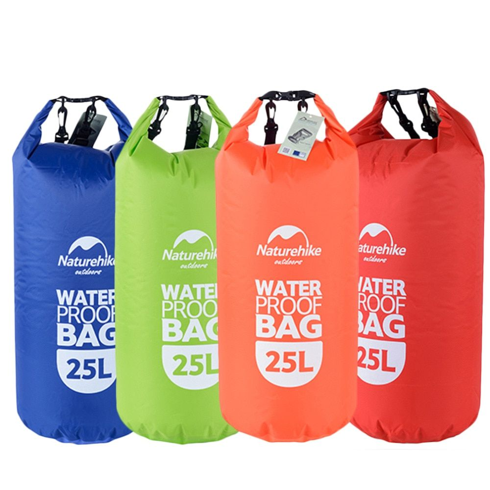 New Portable 25L Waterproof Bag Storage Dry Bag for Canoe Boating Kayak Rafting Sports Outdoor Camping Equipment Travel Kits