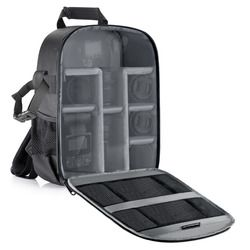 Neewer Camera Bag Waterproof Shockproof Partition 11x6x14' Protection Backpack for SLR, DSLR, Mirrorless Camera Lens Battery