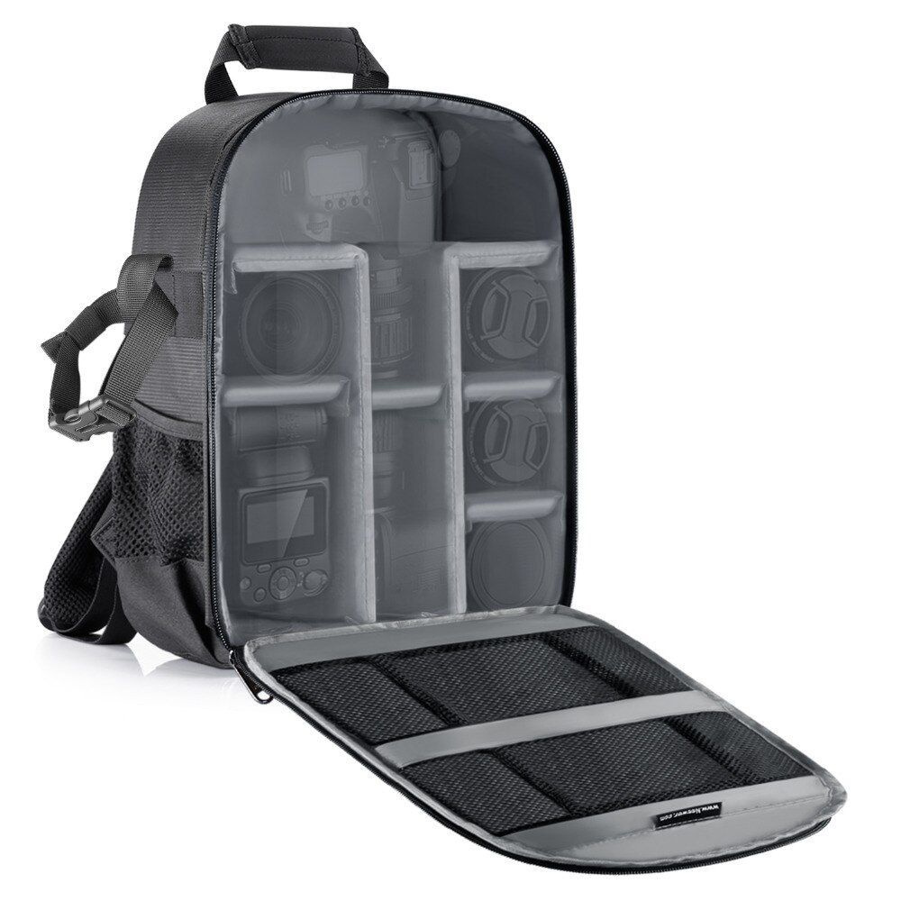 Neewer Camera Bag Waterproof Shockproof Partition 11x6x14 inches Protection Backpack for SLR/DSLR/Mirrorless Camera Lens Battery