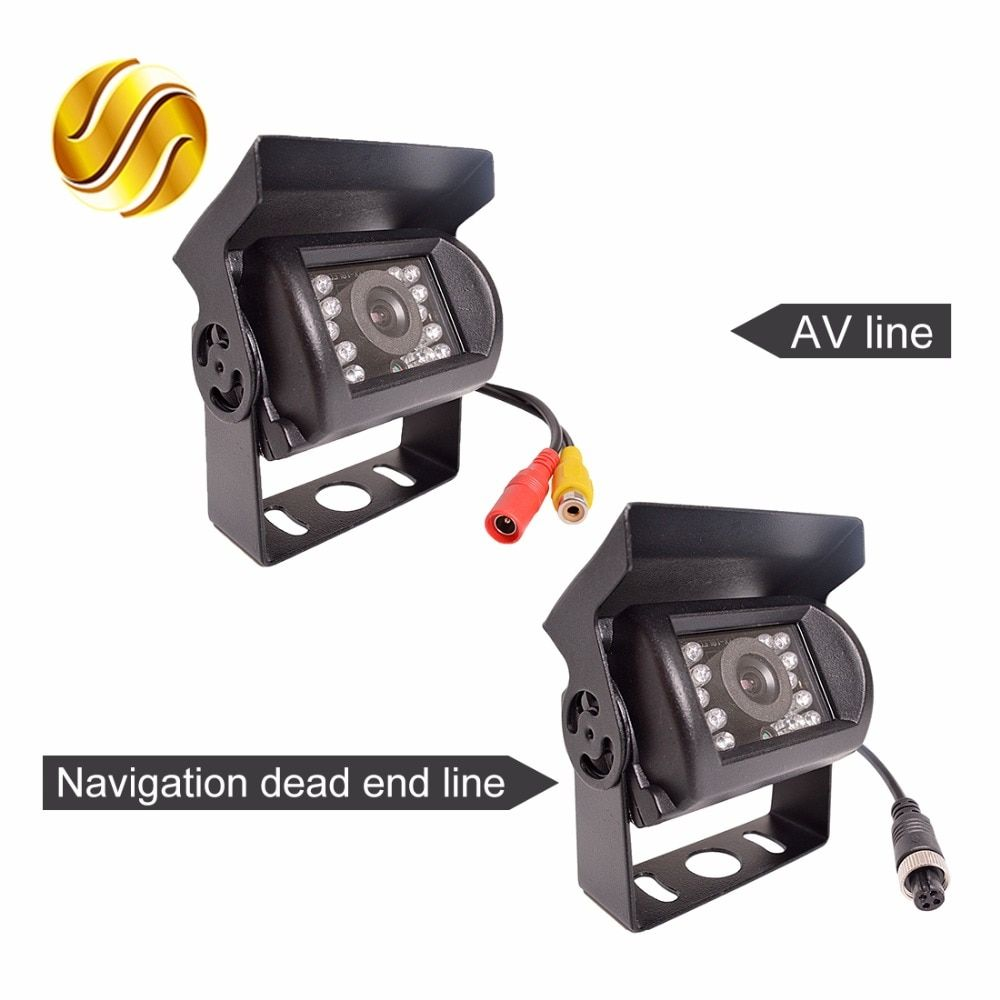 Bus and Truck Rear Camera with 18 LED 24V Navigation / AV Line Reversing Parking Waterproof Truck Night Vision