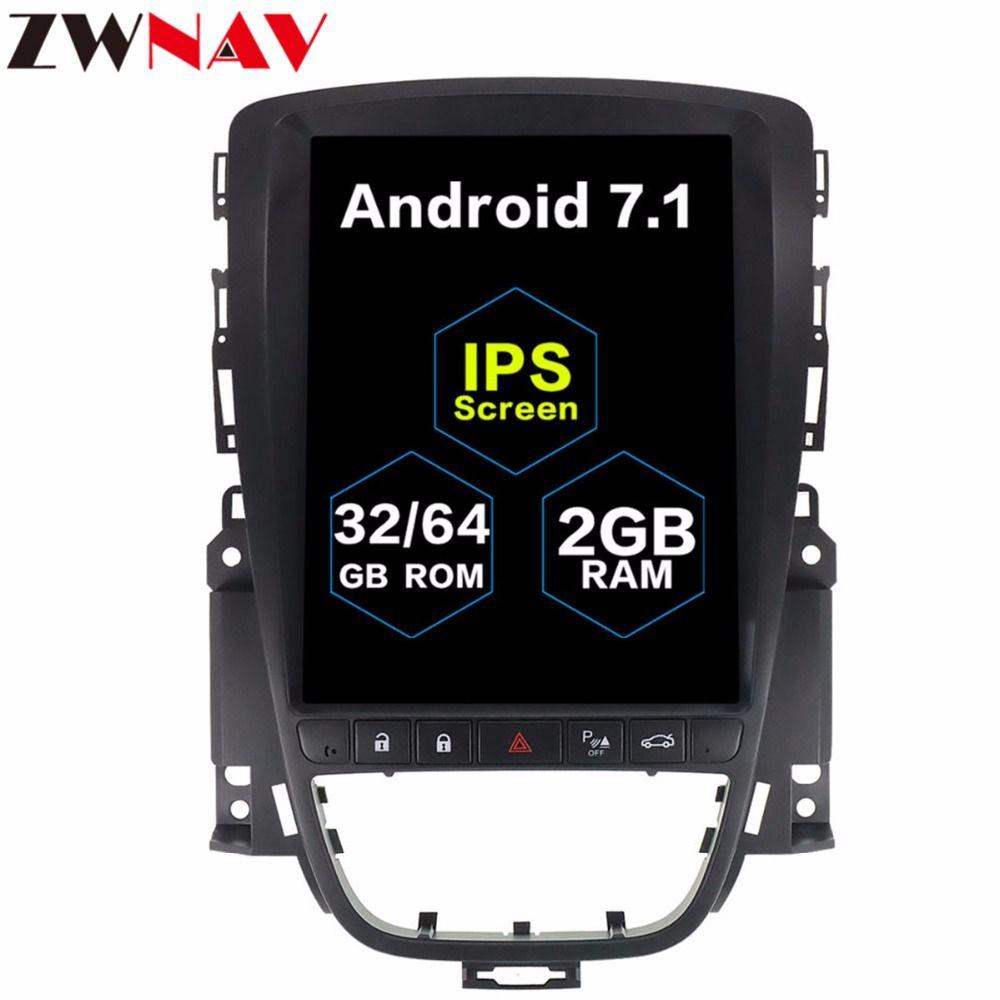 Tesla stil 10,4 GROßEN Bildschirm Android 7.1 Auto Multimedia-player GPS Für OPEL Vauxhall Holden Astra J 2010-2013 radio stereo keine dvd