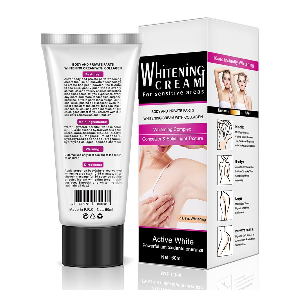 Crème blanchissante pour les aisselles dropshipping à prix réduit crème blanchissante pour les aisselles jambes genoux pièces privées blanchiment du corps