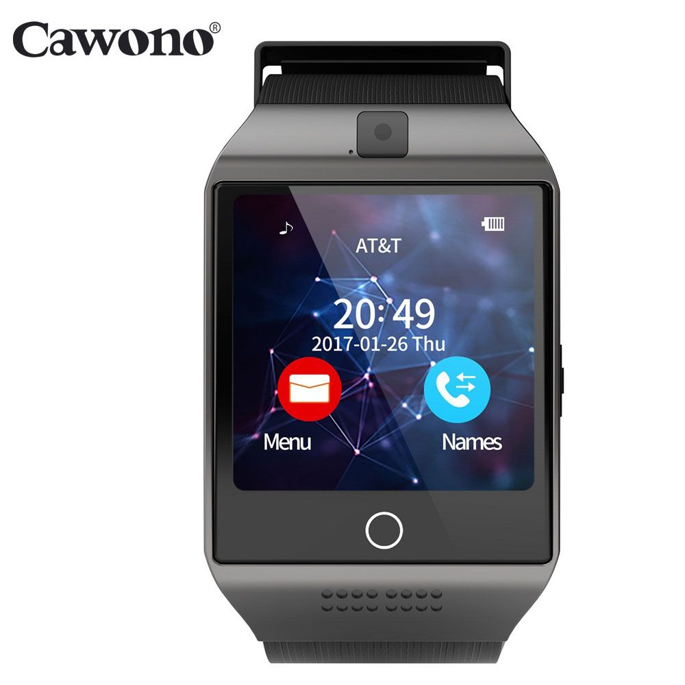 Cawono Bluetooth Q18 montre intelligente Tracker Fitness Smartwatch Relogio Relojes montre appareil photo pour IOS Apple Huawei téléphones Android
