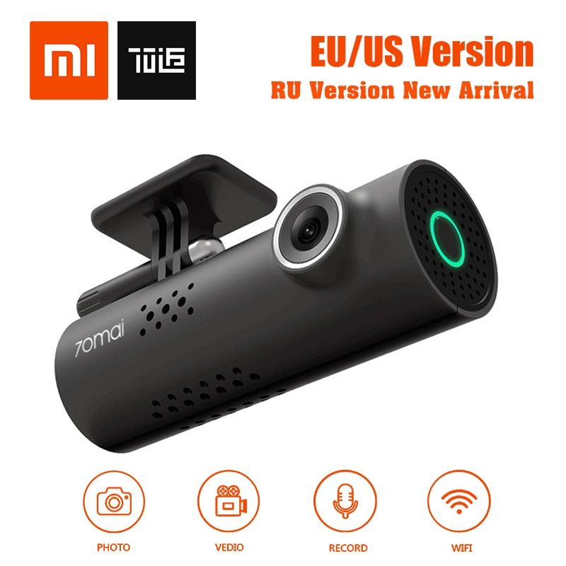 In Stock! XiaoMi 70Mai 70Minutes Smart Car DVR RU/EU/US Version 1080P Wireless Dash Cam 130Degree Wide Angle IMX323 VoiceControl
