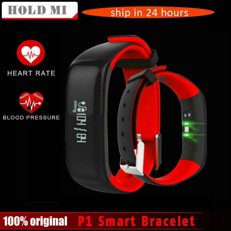 Tenir Mi P1 Smartband Montre Sang Pression Bluetooth Smart Bracelet Moniteur de Fréquence Cardiaque Intelligent Bracelet de Remise En Forme Android IOS Téléphone