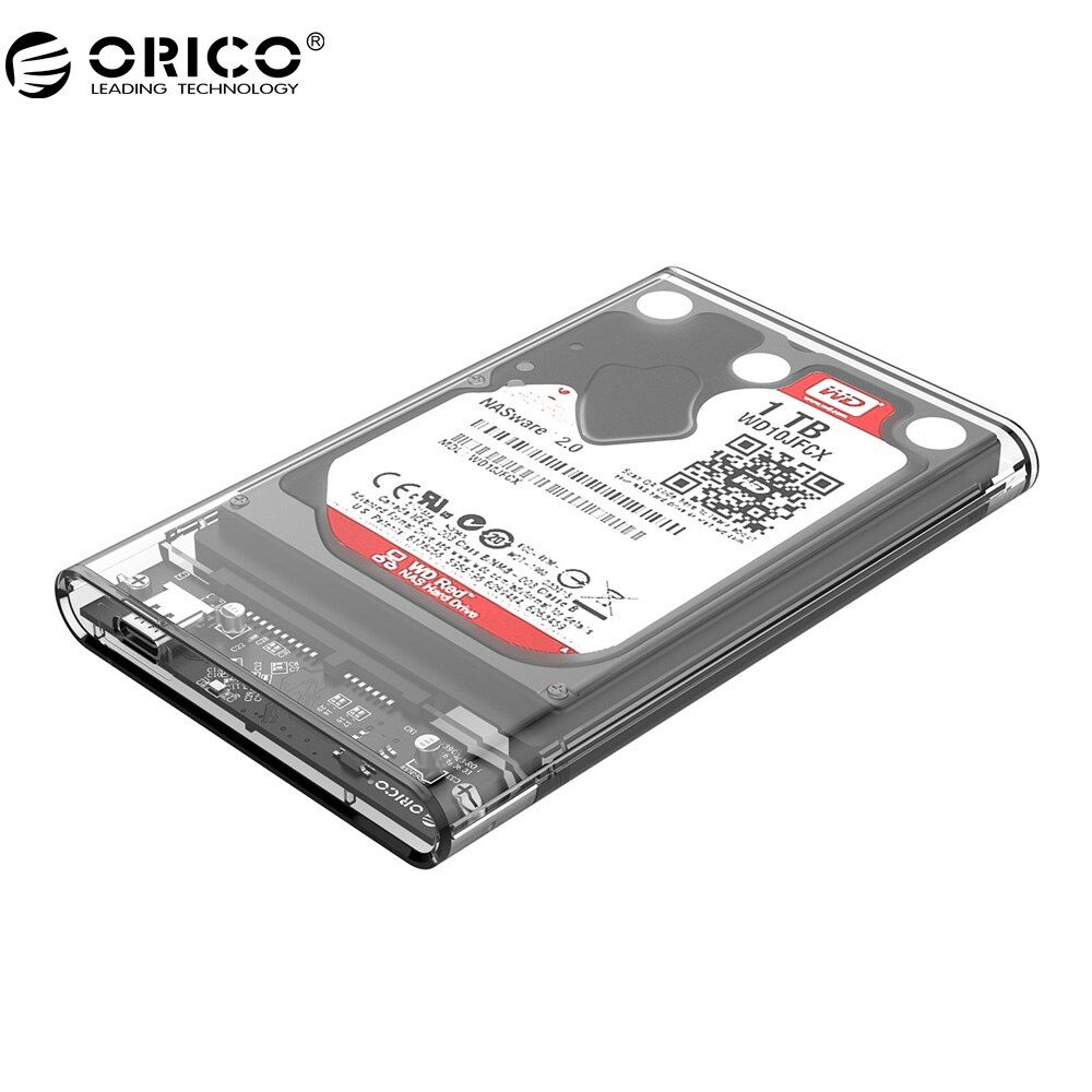 ORICO 2139C3 Type C Hard Drive Enclosure UASP 2.5 <font><b>inch</b></font> Transparent USB3.1 Hard Drive Enclosure Support UASP Protocol