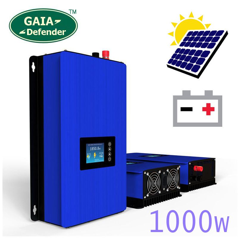 1000W Battery Discharge Power Mode/MPPT Solar Power Grid Tie Inverter DC 22V-60V or 45V-90V Wind/PV system