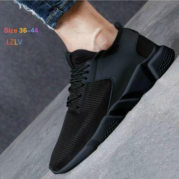 LZLV Fashion Men Casual Shoes Breathable Mesh Shoes Black Trend Men Shoes Free Delivery