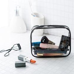PVC Tas Kosmetik Wanita Pria Perjalanan Riasan Tas Ritsleting Make Up Organizer Kantong Penyimpanan Perlengkapan Mandi Kecantikan Mencuci Kit Case