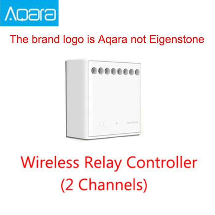 Module de contrôle bidirectionnel d'origine Xiaomi Mijia Aqara contrôleur de relais sans fil 2 canaux fonctionnent pour l'application Mijia et le kit maison