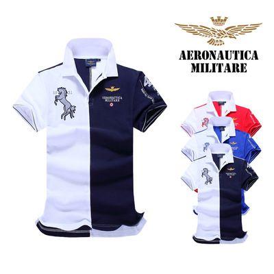2018 heißer Verkauf mode fitness stickerei aeronautica militare männer polo berühmte marke kleidung Air Force One herren Polo homme 998