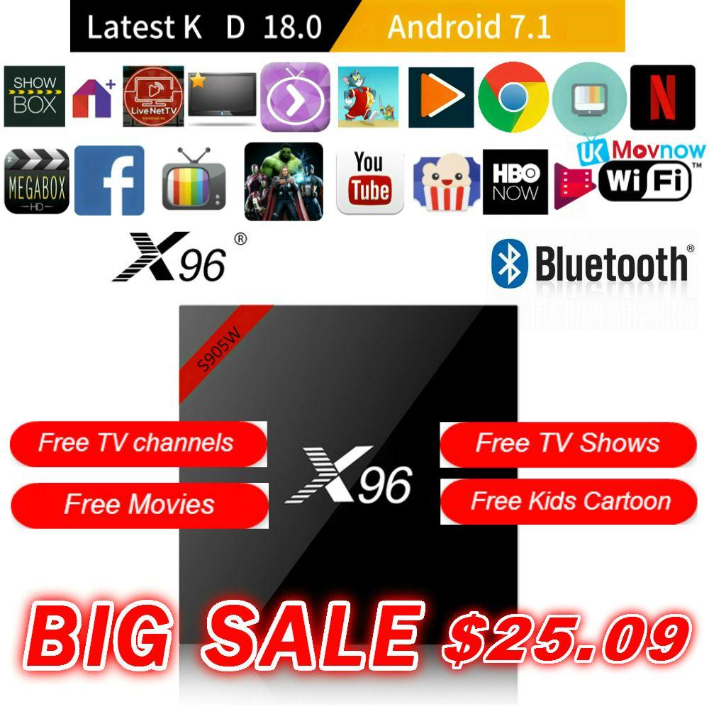 X96 X96W Android TV BOX Android 7.1 OS Amlogic S905W 1GB/8GB 2GB/16GB Bluetooth 4.0 2.4GHz WiFi HD 4K Smart TV Box Media Player