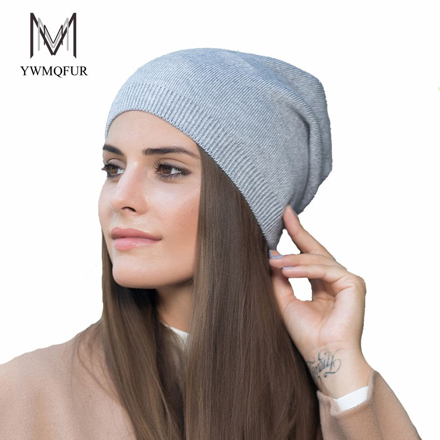 YWMQFUR 2017 New arrival popular hats women's beanies hats for Spring and Autumn knitted with wool fashional caps gorros H70A