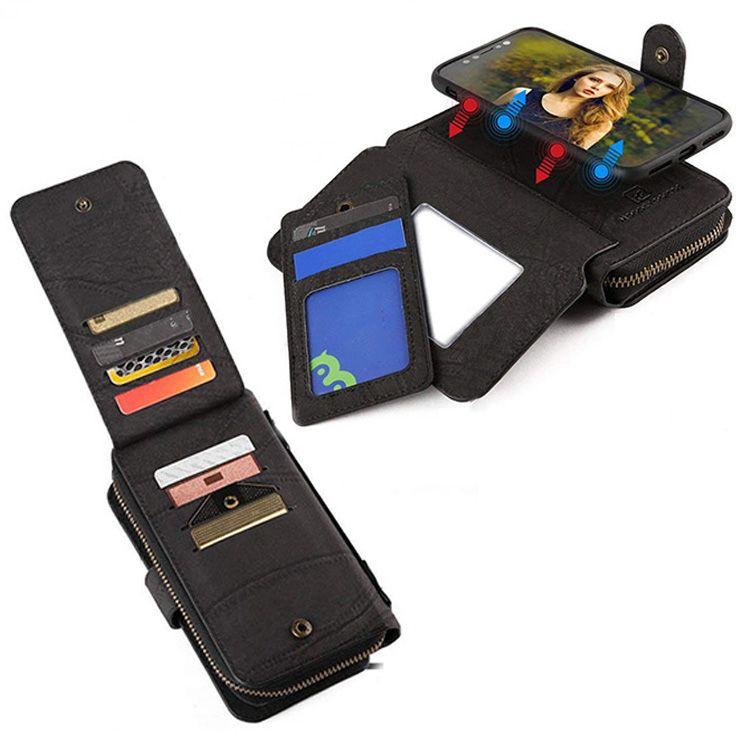 MEGSHI En Cuir De Luxe étui pour huawei P30 PRO Multifonction portefeuille Fermeture Éclair coque de téléphone Pour mate20 conception de Sac À Main