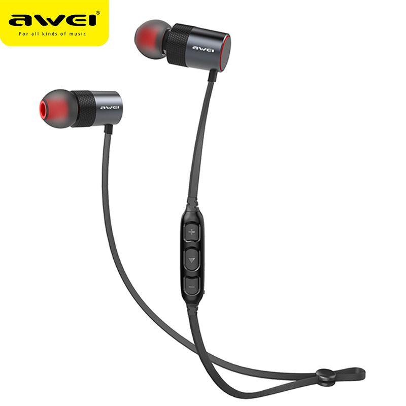 AWEI AK2 Bluetooth Headphone Wireless Earphone Cordless Headset Stereo Blutooth Earphone Fone de ouvido Earpiece For Phone