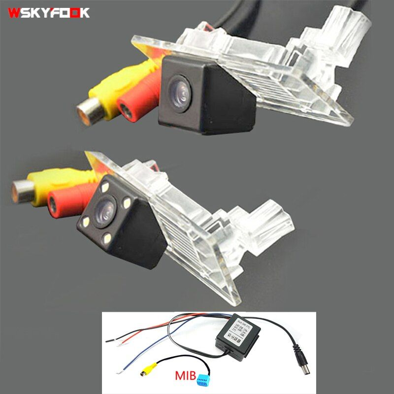 Caméra de parking arrière HD CCD pour Skoda Octavia Fabia Rapid Spaceback superbe Passat Jetta SAGITAR Gran Lavida filtre relais PQ MIB