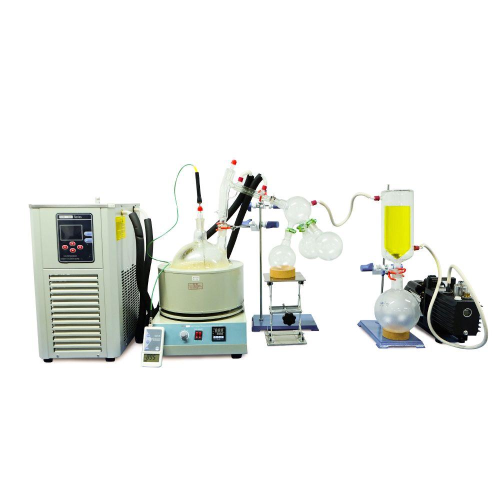 ZOIBKD Labor Sesam Reinigung Extraktion Ausrüstung 5L Kurzen Weg Destillation und Chiller/Vakuum Pumpen