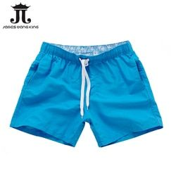 Летние для серфинга шорты мужские повседневные однотонные пляжные шорты модные шорты с принтом на талии мужские прямые шорты на шнурке Hot г...
