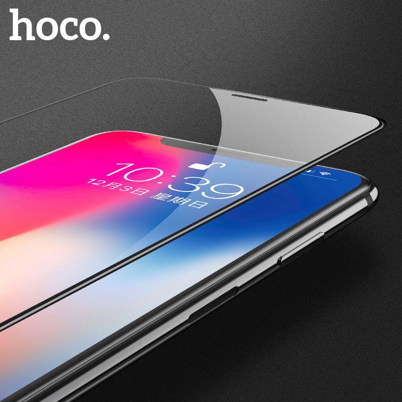 HOCO pour Apple iPhone X 3D En Verre Trempé Film Écran protecteur De Protection Pleine Couverture pour Écran Tactile Protection pour iPhone 10
