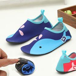 JACKSHIBO новые детские водяные туфли нескользящие для носки Босиком тонкие Footware для речного пляжа песчаный пляж акваобувь для детей домашние с...