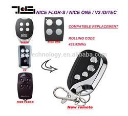 V2, Ditec GOL4, Nice Flors, Nice One compatible Remote Control duplicator Fob 433.92MHz rolling code top quality