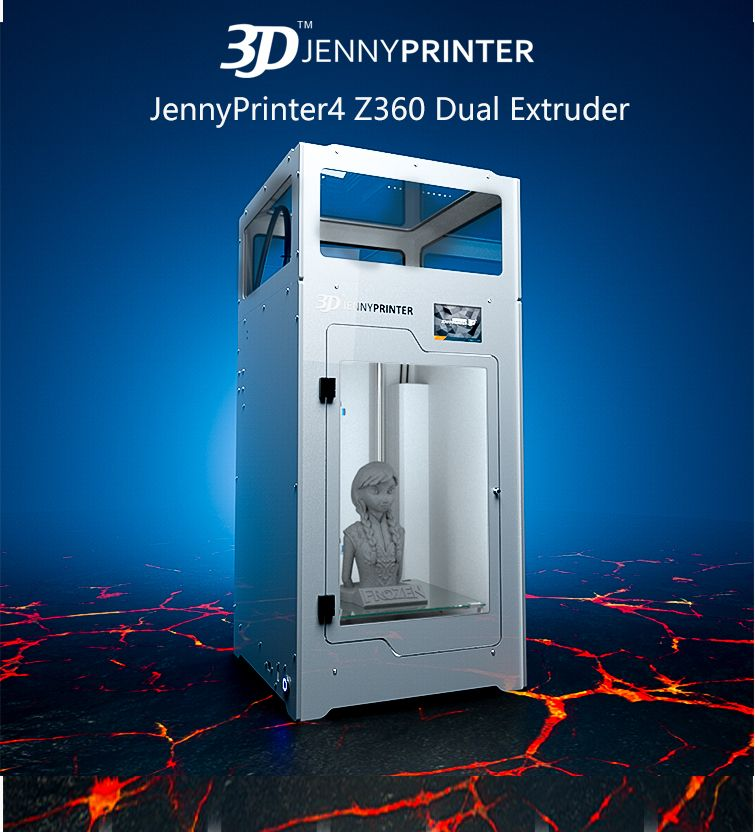 JennyPrinter4 Z360 Dual Extruder with Touch Screen and Auto Level 3D Printer DIY KIT For Ultimaker 2 UM2+ Extended