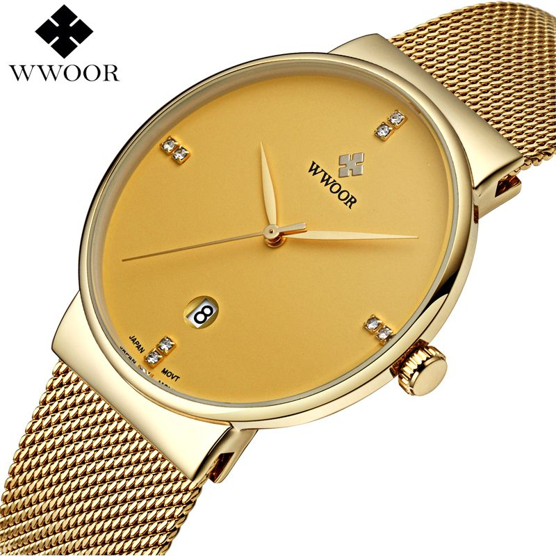 Top Brand Luxury Men's Watch 50m Waterproof Date Clock Male Sports Watches Men Quartz Casual <font><b>Wrist</b></font> Watch Gold relogio masculino
