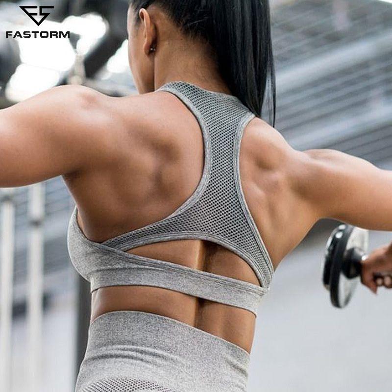 FASTORM Frauen Yoga Set Gymnastik Kleidung Nahtlose Engen Leggings Sexy Bhs Cropped Shirts Workout Sport Anzug Fitness Set Active Wear
