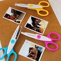 En métal et En Plastique DIY Scrapbooking Photo Paper Scissors Lace Journal Décoration Vague Dentelle Bord Ciseaux Artisanat Dentelle ciseaux Z451