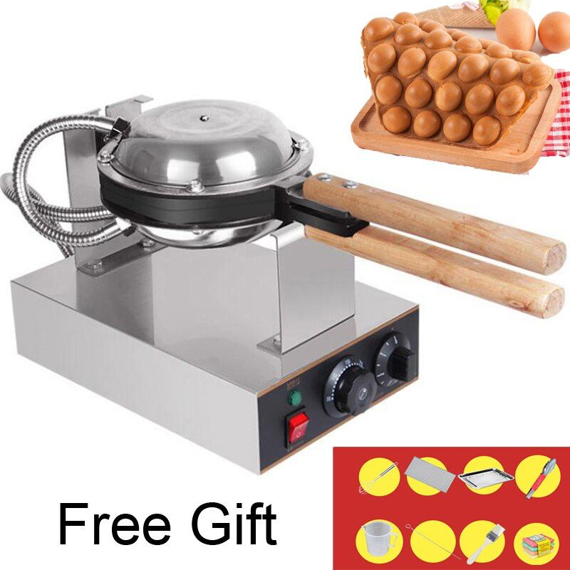 Professional Commercial Electric egg bubble waffle maker machine hong kong eggettes bubble puff cake iron maker cake oven