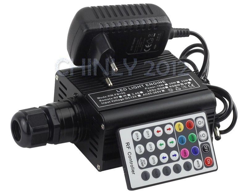 RGBW 16W LED Fiber Optic Engine Driver with 28key RF Remote controller for all kinds fiber optics