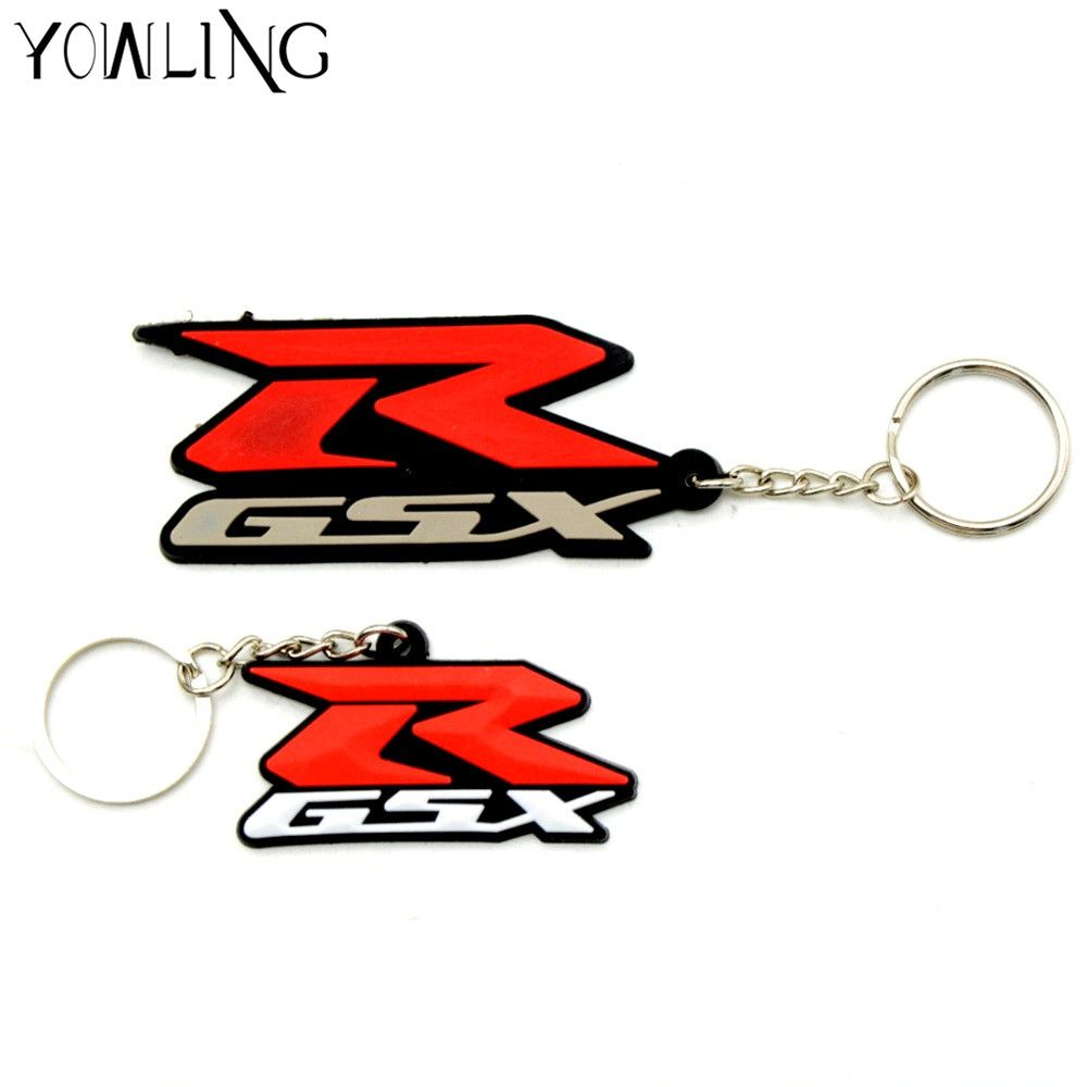 new hot selling gift Key chain motorcycle accessories motorcycle key chain 3D soft rubber motorcycle key ring for SUZUKI GSXR