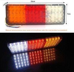 1 pair 12 V 75 LEDS VAN Trailer Truck lorry LED Tail Lampu Belakang Membalikkan Cahaya Lampu Mobil-Trailer Menjalankan Brake Hidupkan lampu belakang