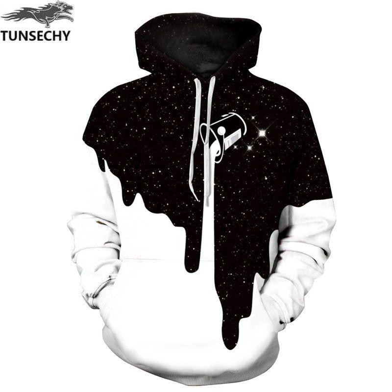 TUNSECHY Chaude Mode Hommes/Femmes 3D Pulls Molletonnés Print Lait Espace Galaxy Sweat À Capuche Unisexe Tops Gros et au détail