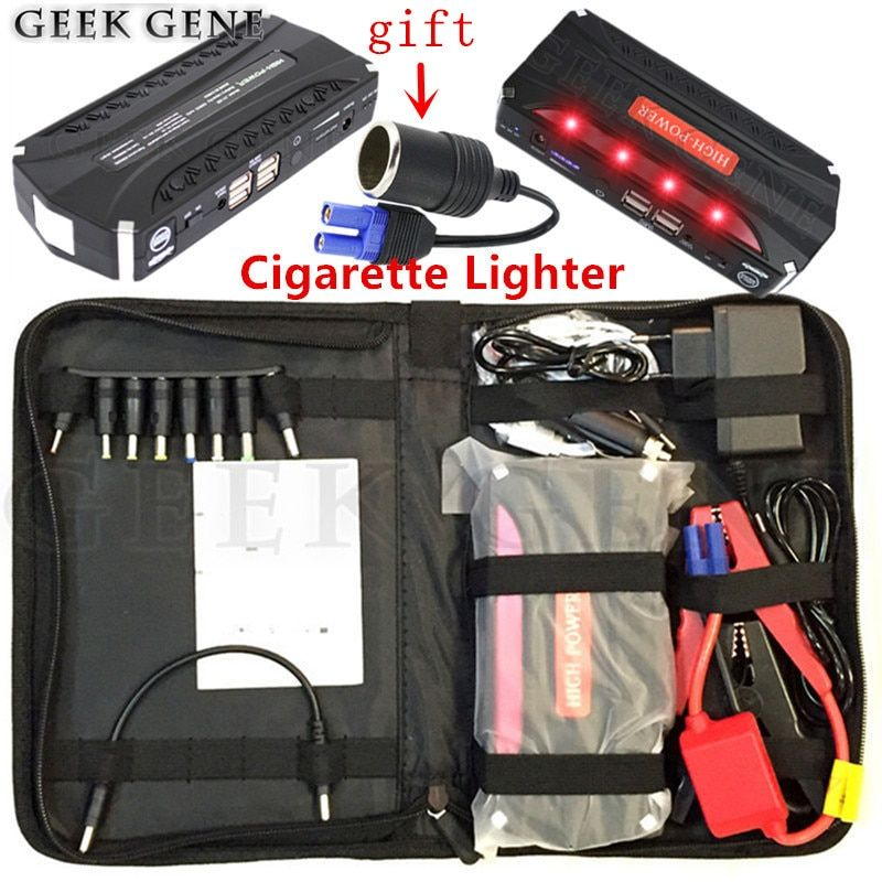 Emergency Car Jump Starter 12V 600A Portable Lighter Power Bank Car Battery Charger for Petrol & Diesel Car Auto Booster Buster