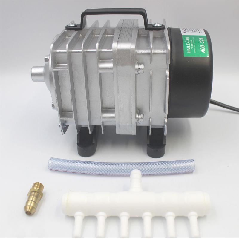 Hailea ACO-328 82L/min Aquarium Oxygen Pump Electromagnetic Air Compressor Oxygen Pump 220V 60W