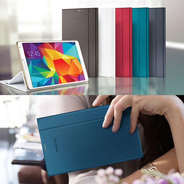 Luxury Folding Flip Smart PU Leather Case BooK Cover for Samsung Galaxy Tab S 8.4 T700 T705 Sleep/Wake Function+Screen Film+ Pen