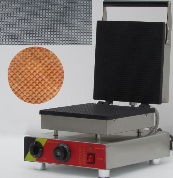 electric square shaped electric egg roll waffle maker, ice cream waffle cone maker
