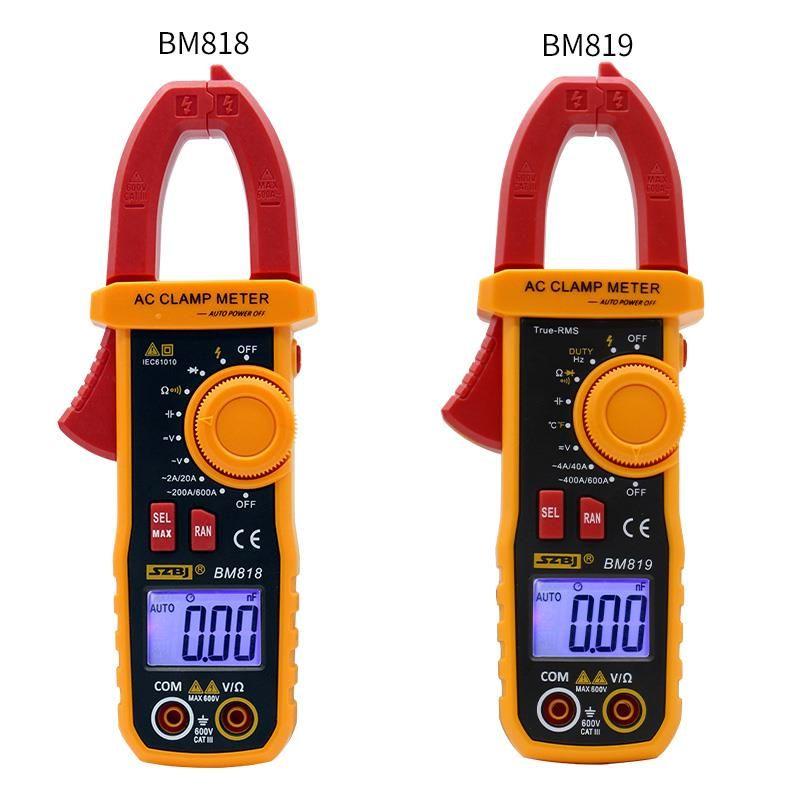 SZBJ BM818 BM819 ampèremètre ACV/DCV ACA mesure automatique de la plage de grande capacité NCV pince numérique