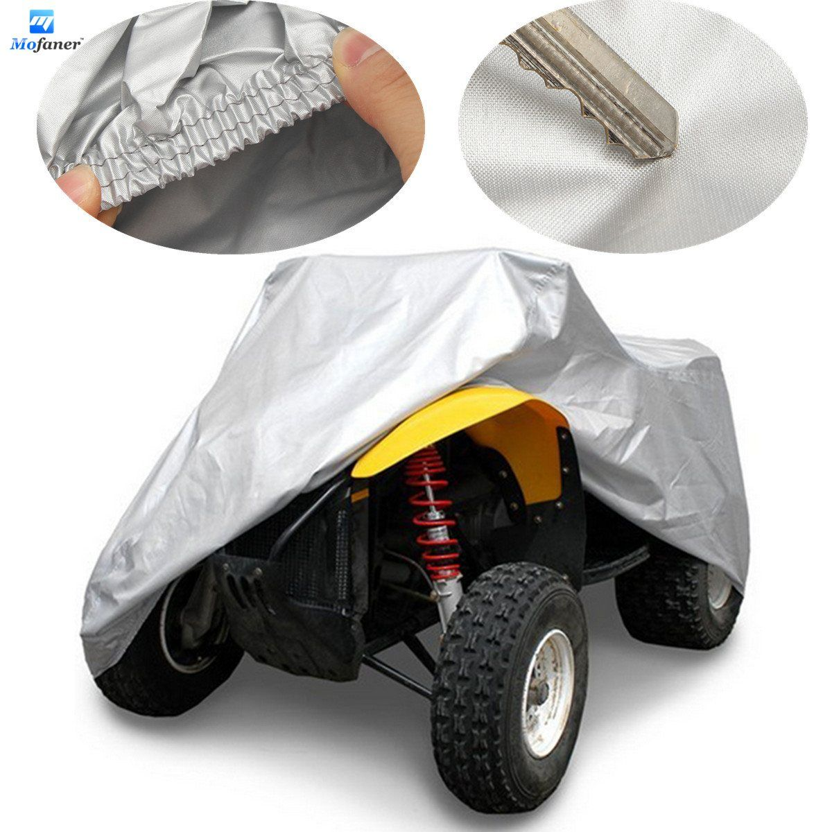 Mofaner XL Большой 190 т ATV Обложка Водонепроницаемый пыле квадроцикл тракта Anti UV хранения Обложка сумка