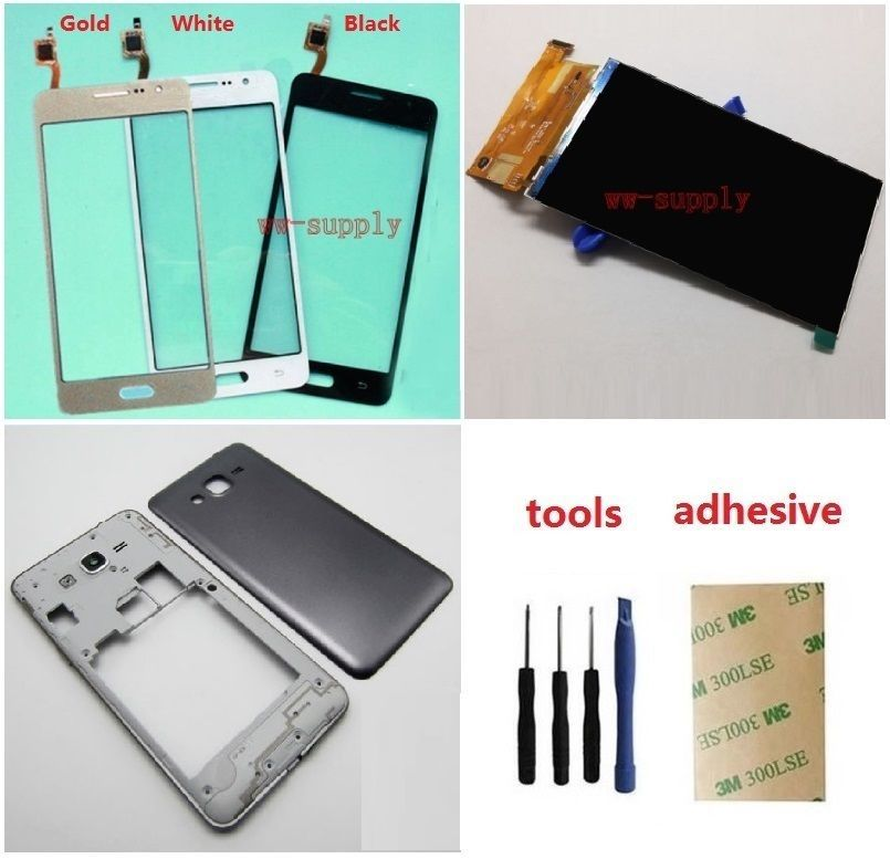 For Samsung Galaxy Grand Prime SM-G531H G531H/DS Touch Digitizer Sensor + LCD Display Screen + Housing bezel Frame+Battery Cover
