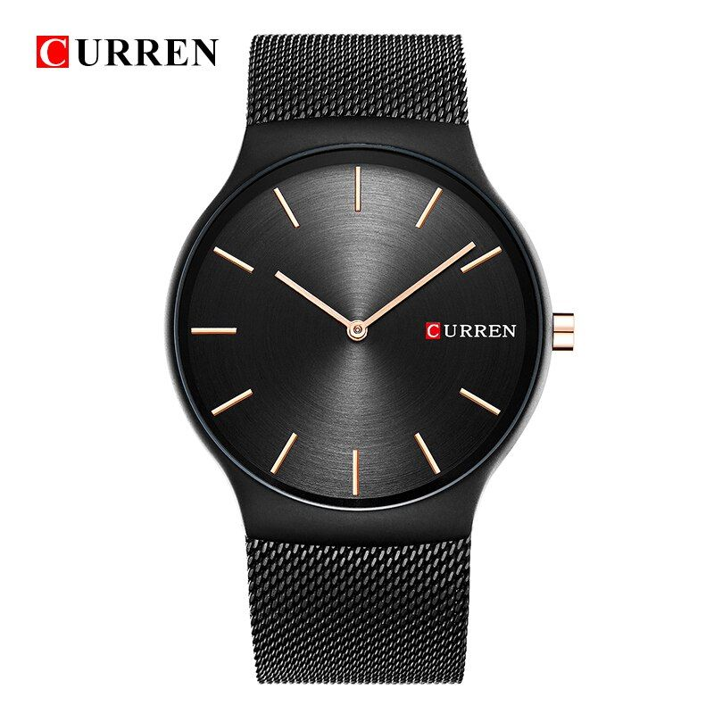 CURREN 8256 new black rose gold Pointer relogio masculino Luxury Brand Analog sports Wristwatch Quartz Business Watch MEN N9