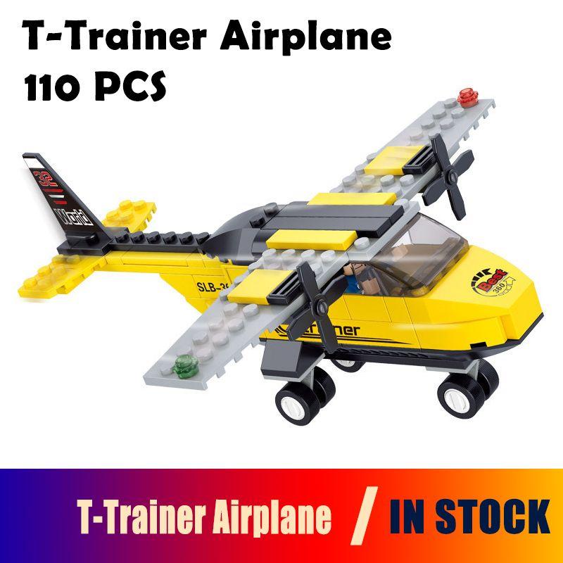 0360 110pcs Model building kits compatible with lego city plane 3D blocks Educational model & building toys hobbies for children